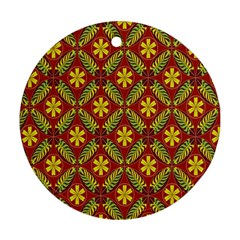 Abstract Floral Pattern Background Ornament (round)