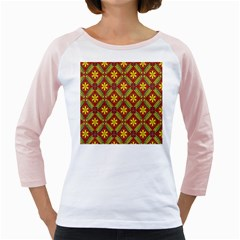 Abstract Floral Pattern Background Girly Raglan