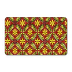 Abstract Floral Pattern Background Magnet (rectangular)