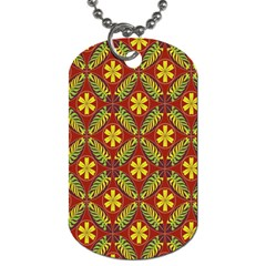 Abstract Floral Pattern Background Dog Tag (one Side)