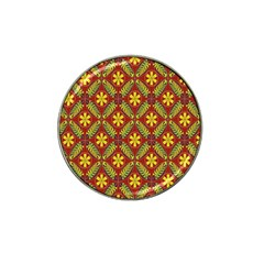 Abstract Floral Pattern Background Hat Clip Ball Marker