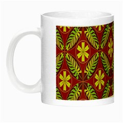 Abstract Floral Pattern Background Night Luminous Mugs