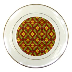 Abstract Floral Pattern Background Porcelain Plates