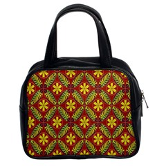 Abstract Floral Pattern Background Classic Handbag (two Sides)