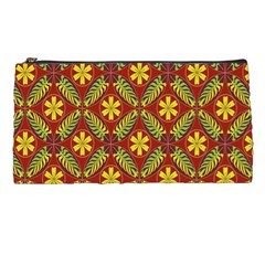 Abstract Floral Pattern Background Pencil Cases