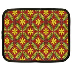 Abstract Floral Pattern Background Netbook Case (xxl)