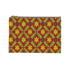 Abstract Floral Pattern Background Cosmetic Bag (large)