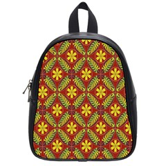 Abstract Floral Pattern Background School Bag (small)