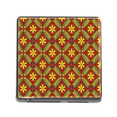 Abstract Floral Pattern Background Memory Card Reader (square 5 Slot)