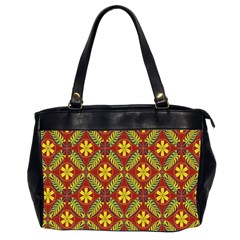 Abstract Floral Pattern Background Oversize Office Handbag (2 Sides)