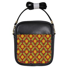 Abstract Floral Pattern Background Girls Sling Bag