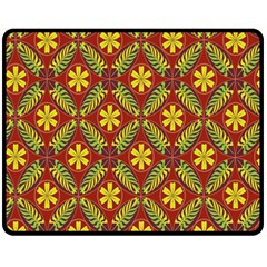 Abstract Floral Pattern Background Fleece Blanket (medium)