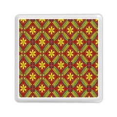 Abstract Floral Pattern Background Memory Card Reader (square)
