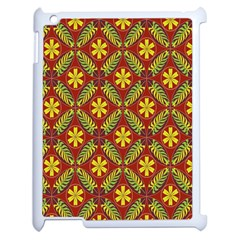 Abstract Floral Pattern Background Apple Ipad 2 Case (white)