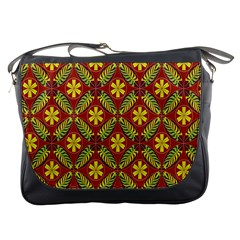 Abstract Floral Pattern Background Messenger Bag