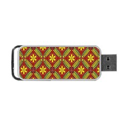 Abstract Floral Pattern Background Portable Usb Flash (one Side)
