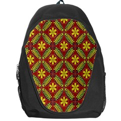 Abstract Floral Pattern Background Backpack Bag