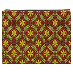 Abstract Floral Pattern Background Cosmetic Bag (xxxl)