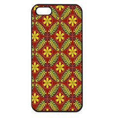 Abstract Floral Pattern Background Apple Iphone 5 Seamless Case (black)