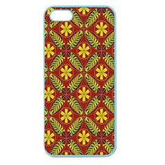 Abstract Floral Pattern Background Apple Seamless Iphone 5 Case (color)