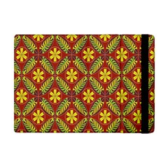 Abstract Floral Pattern Background Apple Ipad Mini Flip Case