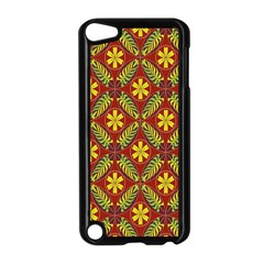 Abstract Floral Pattern Background Apple Ipod Touch 5 Case (black)