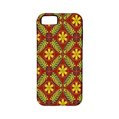 Abstract Floral Pattern Background Apple Iphone 5 Classic Hardshell Case (pc+silicone)