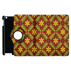 Abstract Floral Pattern Background Apple Ipad 3/4 Flip 360 Case