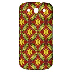 Abstract Floral Pattern Background Samsung Galaxy S3 S Iii Classic Hardshell Back Case