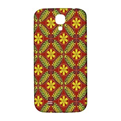 Abstract Floral Pattern Background Samsung Galaxy S4 I9500/i9505  Hardshell Back Case