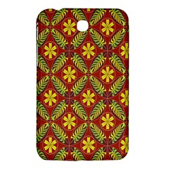Abstract Floral Pattern Background Samsung Galaxy Tab 3 (7 ) P3200 Hardshell Case