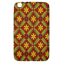 Abstract Floral Pattern Background Samsung Galaxy Tab 3 (8 ) T3100 Hardshell Case