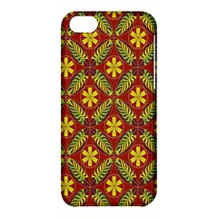 Abstract Floral Pattern Background Apple Iphone 5c Hardshell Case