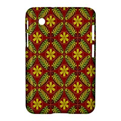 Abstract Floral Pattern Background Samsung Galaxy Tab 2 (7 ) P3100 Hardshell Case