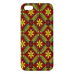 Abstract Floral Pattern Background Iphone 5s/ Se Premium Hardshell Case