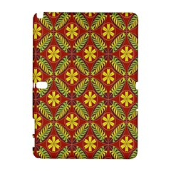 Abstract Floral Pattern Background Samsung Galaxy Note 10 1 (p600) Hardshell Case