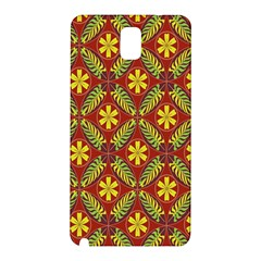 Abstract Floral Pattern Background Samsung Galaxy Note 3 N9005 Hardshell Back Case