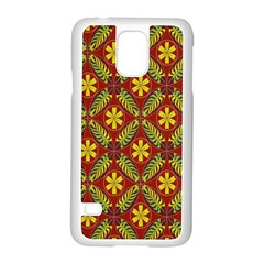 Abstract Floral Pattern Background Samsung Galaxy S5 Case (white)
