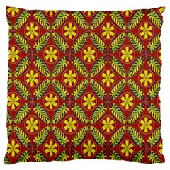 Abstract Floral Pattern Background Large Flano Cushion Case (two Sides)