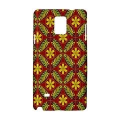 Abstract Floral Pattern Background Samsung Galaxy Note 4 Hardshell Case