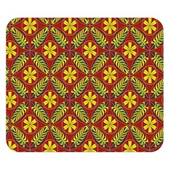 Abstract Floral Pattern Background Double Sided Flano Blanket (small)