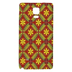 Abstract Floral Pattern Background Samsung Note 4 Hardshell Back Case