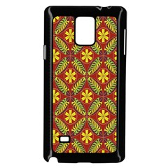 Abstract Floral Pattern Background Samsung Galaxy Note 4 Case (black)