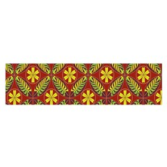 Abstract Floral Pattern Background Satin Scarf (oblong)