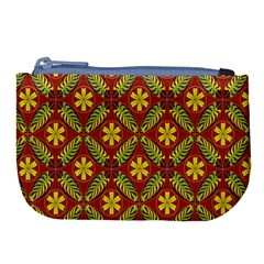 Abstract Floral Pattern Background Large Coin Purse