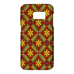 Abstract Floral Pattern Background Samsung Galaxy S7 Hardshell Case