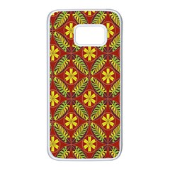Abstract Floral Pattern Background Samsung Galaxy S7 White Seamless Case