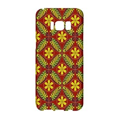 Abstract Floral Pattern Background Samsung Galaxy S8 Hardshell Case  by Alisyart