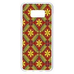 Abstract Floral Pattern Background Samsung Galaxy S8 Plus White Seamless Case