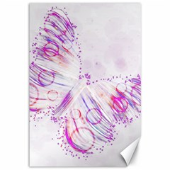 Colorful Butterfly Purple Canvas 12  X 18  by Mariart